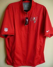 NFL Nike Tampa Bay Buccaneers Football 1/4-Zip Short Sleeve Pullover L NEW