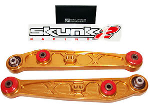 Skunk2 542-05-1210 Alpha Rear Lower Control Arms LCA for 96-00 Civic EK (Gold)