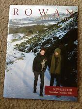 Rowan club subscription Newsletter:  November/December 2011 Booklet