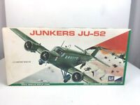 Rare CRAFT MASTER : JUNKERS JU-52 - 1/72 Scale Vintage Plastic Model Kit