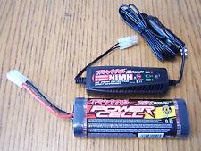 Traxxas Ez Start 6 Cell Ni-mh 1800 Battery 2 Amp Charger 3.3 2.5 Tmaxx Jato Revo
