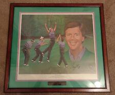 "240/800 ""Press On"" Larry Mize Ltd Ed Golf Print by Ken Modak Matted Framed w/COA"
