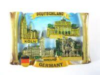 Köln Berlin Hamburg Neuschwanstein Souvenir Poly Magnet,Germany Deutschland,Neu