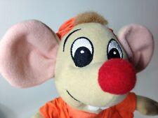 "Disney Cinderella Jaq Mouse Plush Grey Bean Bag Beanie Stuffed Toy 8"""