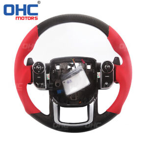 100% Real Carbon Fiber Steering Wheel for Range Rover Velar Sport Evoque