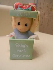 Precious Moments Baby's First Christmas Ornament Boy 2007 #712012 New w/o Box
