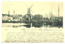 NEDERLAND AK 1898   HAARLEM  MOLEN  HAVEN  SCHIP   PR EX