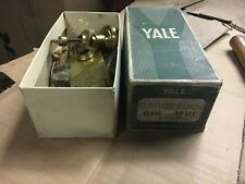 """never used new old stock Yale hardware closet door knob set 5.5"""" L pretty brass"""