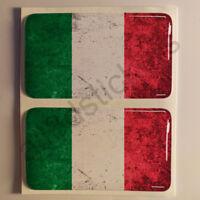Pegatinas Italia Pegatina Bandera Manchada Vieja Adhesivo 3D Relieve Resina