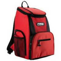 NEW for 2019 NWT RTIC Day Cooler 15 Can Backpack, Red & Black