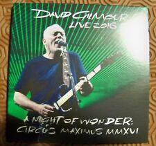 "DAVID GILMOUR ""A NIGHT OF WONDER: CIRCUS MAXIMUS MMXVI"" TRIPLE CD LIVE ROME 2016"