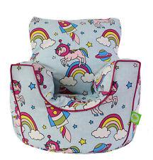 Cotton Space Unicorn Pastel Rainbow Bean Bag Arm Chair Child/Teen size Bean Lazy