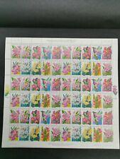 2000 malaysia stamp week highland flowers series ii setenant 60v stamp sheet MNH