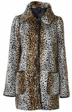Cool Miss Selfridge Leopard/Animal Print Lightweight Faux Fur Jacket Size 6/8.