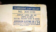 Jefferson Electric 300-1151 Fluorescent Lamp Ballast