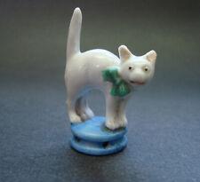 Antique Rare German Porcelain Cat Half Doll Pincushion Top