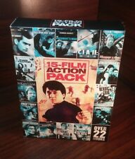 15-Movie Action Pack,Vol. 1(DVD,2011,2-Disc Set)Used Once-Free S&H with Tracking