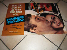 fotobusta  PASSO FALSO Deadfall 1968 M.CAINE,Bryan Forbes.RALLI