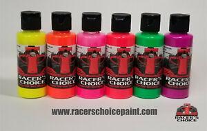 Airbrush Paint Fluorescent e 6 Bottle Set Racers Choice