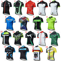 Men's Cycling Jersey Short Sleeve Cycle Clothes Bike Shirt Summer Top S-5XL