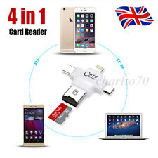 4in1 USB Drive Micro SD TF Memory Card Reader Adapter For Android iPhone Type-C