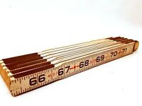"""Lufkin Universal 6 Foot 460F Fold Out Ruler Wooden Rule Measuring Stick 72"""""""