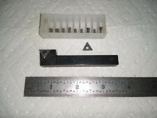 Small Valenite Insertable Lathe Tool Holder With New Carbide Inserts