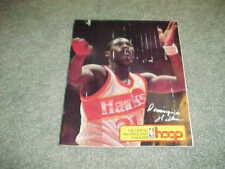 1984 Atlanta Hawks v Milwaukee Bucks Basketball Program 1/18 w/tickets
