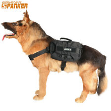 Service Dog Harness with Pouches Police K9 Dog Vest Clothes Training