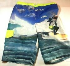 Ocean Pacific Board Shorts Swim Trunks Youth  Size 14 16 X Large Shark Graphic