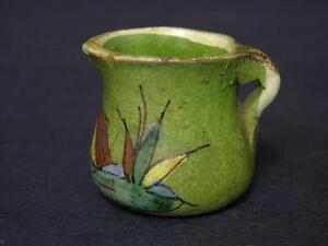 Early to Mid-20th Century Tlaquepaque Mexico Miniature Pitcher Blue Donkey Style