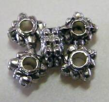 100pcs 3x4.5mm Metal Alloy Square Daisy Spacers - Antique Silver