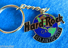ATLANTIC CITY PLANET EARTH GLOBE LOGO KEY CHAIN RING Hard Rock Cafe not a pin