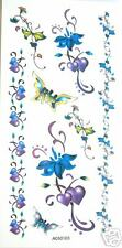 Flower Butterfly Armband Temporary Tattoos #A050105