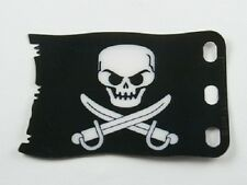 Lego Plastic Flag 7x4 Pirate Skull Crossbones Jolly Roger Brickbeard Pirates