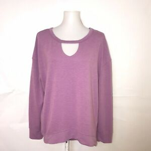 Juicy Couture Women Purple Sweatshirt Size Large Hi-Lo Hem So Soft