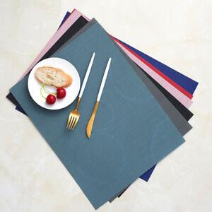 Anti-slip Coasters PVC Dining Table Plate Pad Modern Place Mats Waterproof Cloth