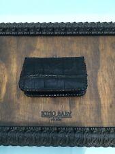King Baby Black Leather Crocodile Wallet