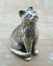 A Sweet Edwardian Style Solid Silver 925 Miniature Cat / Kitten