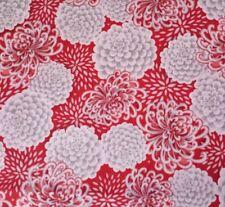 "24"" Yoriko Dependable Kimmedoll Quilting Treasures Asian Red Gray Mum Floral"