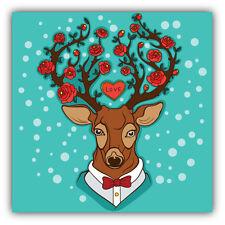 Deer Love Label Car Bumper Sticker Decal 5'' x 5''