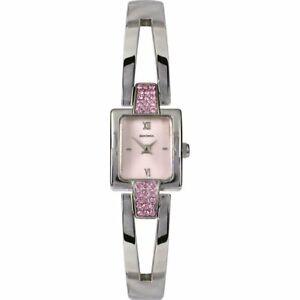 Sekonda Pink Dial Stainless Steel Semi-Bangle Ladies Watch