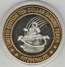 1995 Fitzgeralds Reno Luck Collectors Pot of Gold .999 Fine Silver $10 Token
