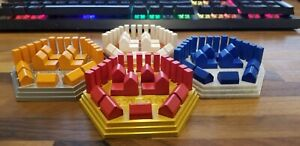 Settlers of Catan Piece holders, 3D printed, Pick your custom colors, 4-6 pieces