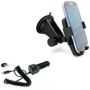 Type-C 3.1A Charger w Holder Windshield Car Mount for USB-C Phones