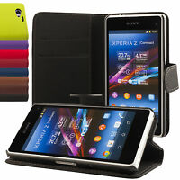 Sony Xperia Z1 compact mini Coque de protection Housse Pochette Wallet
