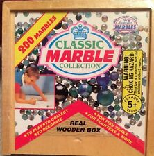 1998 Imperial Toy Corp. -200 Classic Marble Collection In Wooden Box -*New*Rare*