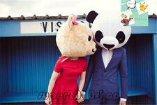 Halloween Panda Head Mascot Costume Cosplay Valentine Lover Dress (Just Head) uk