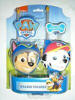 """Nickelodeon Paw Patrol Walkie Talkies """"NEW"""""""