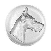 Metallemblem Dogge Ø50mm Emblem Abzeichen geprägt Reliefemblem | Pokale Meier